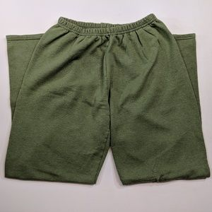 Hanes Women's Olive Green Sweat Pants Pre-Owned